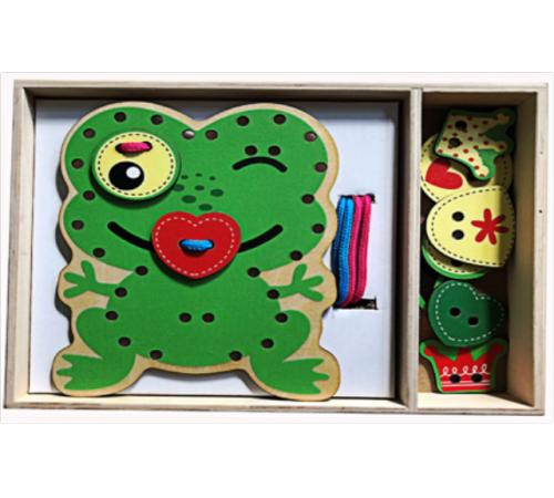 """Детскиймагазин в Кишиневе в Молдове baby mix wts-17-h1228 Деревянные пазлы """"Лягушка"""""""