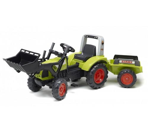 falk 1040am tractor cu pedale, remorcă și cupă verde