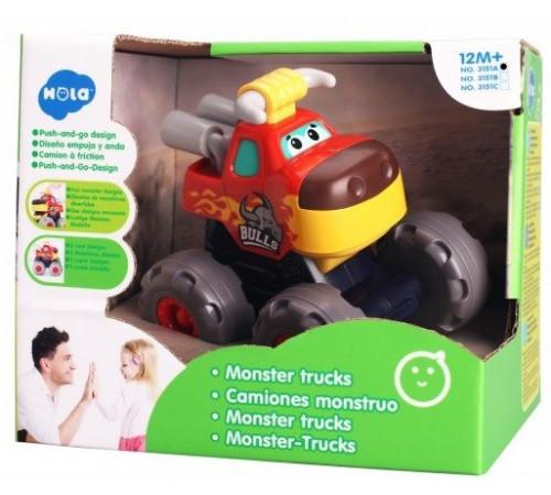 """hola toys 3151a Музыкальная машинка """"monster trucks"""""""