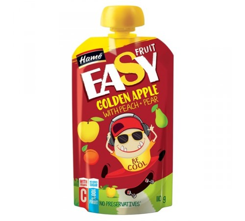 "hame puree ""easy fruit"" mere cu piersici, pere, banana 110g"
