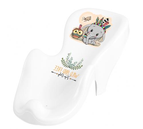 """tega baby Сиденье для ванны антискользящее wild&free """"Слонёнок"""" dz-003-103 белый"""