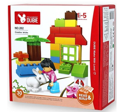 "dubie РД02.197 Конструктор ""creative bricks"" (30 ед.)"