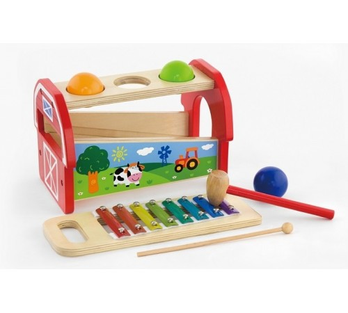 """Детскиймагазин в Кишиневе в Молдове 3toysm pc/50348 Игрушка деревянная """"Ксилофон"""""""