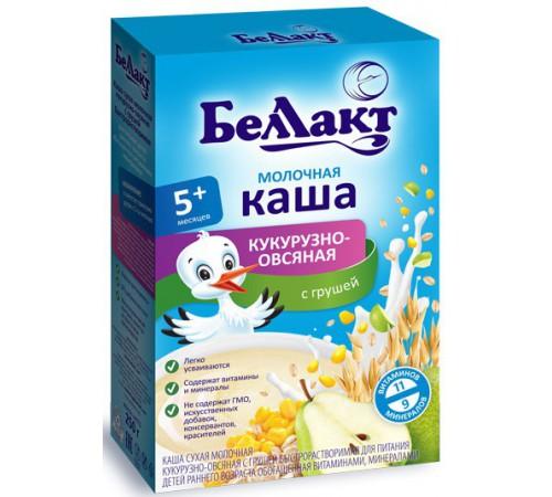 Беллакт Каша молочная кукурузно-овсяная с грушей (5m+) 250 гр.