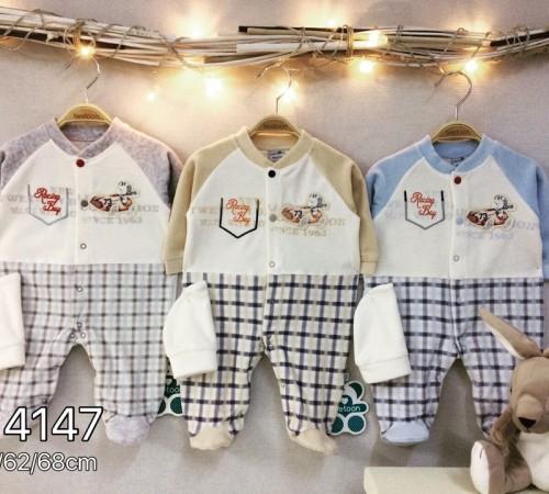 Одежда для малышей в Молдове twetoon baby Комбинезон с шапочкой, велюр 114147