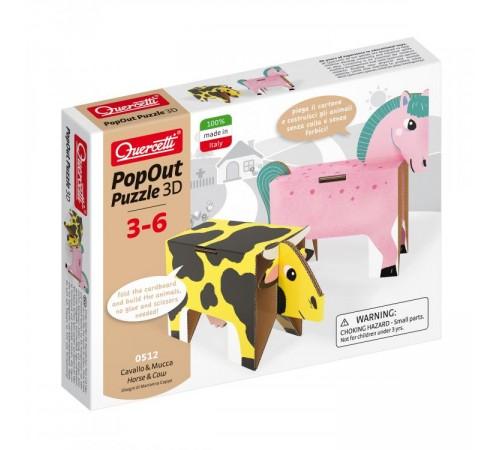 """quercetti 512 Пазлы 3d """"horse&cow"""""""