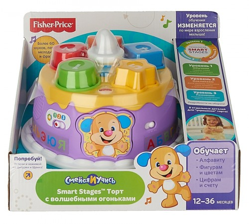 fisher price dyy06 tort smart stages (rus.-eng.)