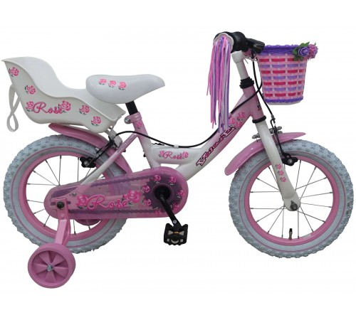 "volare 81403-it bicicleta ""rose 14""  alb/roz"