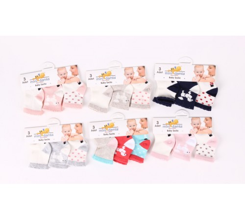 Одежда для малышей в Молдове  mini damla 42845 Носочки для девочки (3 пары) в асс.