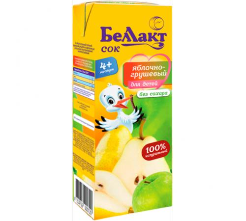 Беллакт suc de mere și pere 200 ml. (4 m. +)