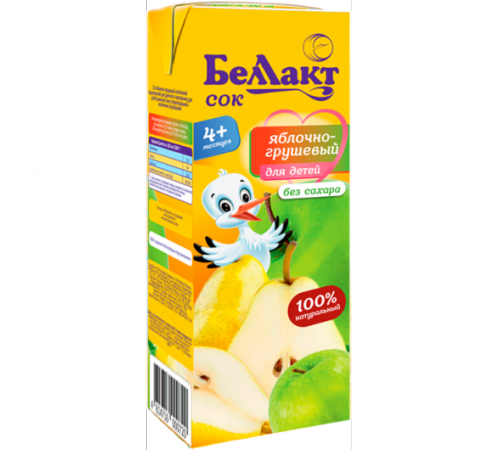 Беллакт Сок яблочно-грушевый 200 мл. (4 м. +)