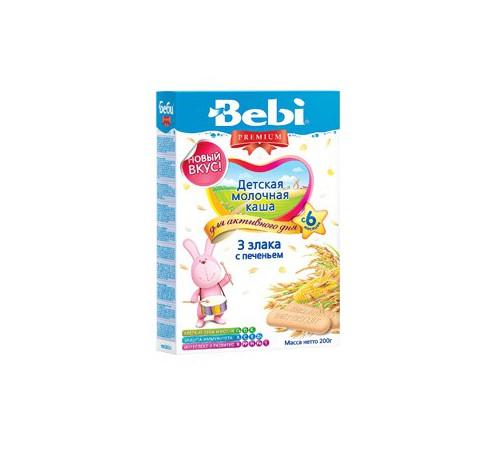 Детское питание в Молдове bebi молочная каша premium 3 злака с печеньем 200gr.(6+)