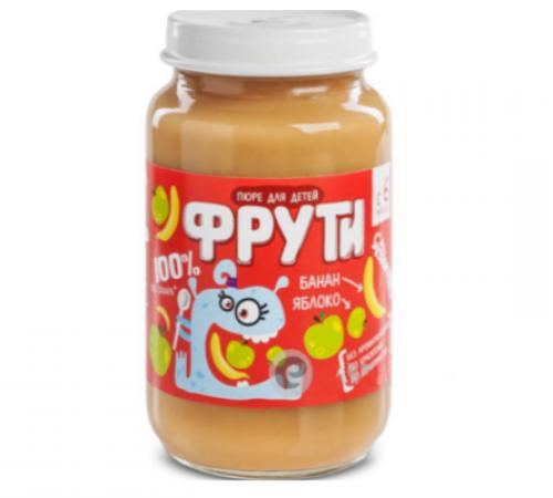 """Детское питание в Молдове """" Маленькое счастье """" . Пюре  """"Фрути"""" яблоко банан 180 г  (6m+)"""