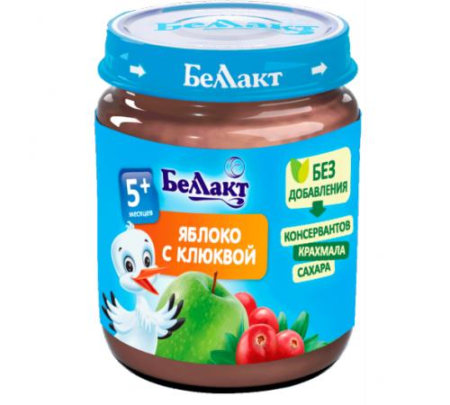 Детское питание в Молдове Беллакт Пюре из яблок и клюквы 100 гр. (5 м. +)