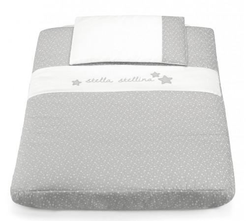 cam Набор постельного белья для колыбели cullami 140 серый