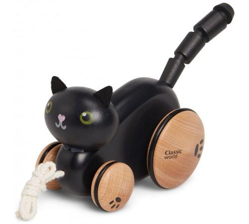 """classic world 54228 Деревянная игрушка-каталка """"Котик"""""""