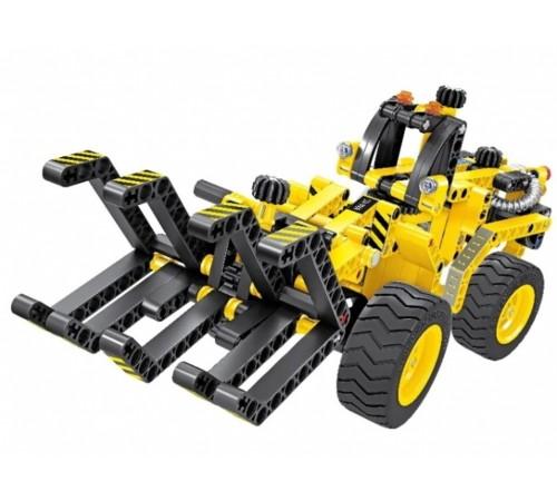 """Детскиймагазин в Кишиневе в Молдове xtech bricks 6804 Механический конструктор 2-в-1 """"Лесоповальный трактор и Багги"""" (301 дет.)"""