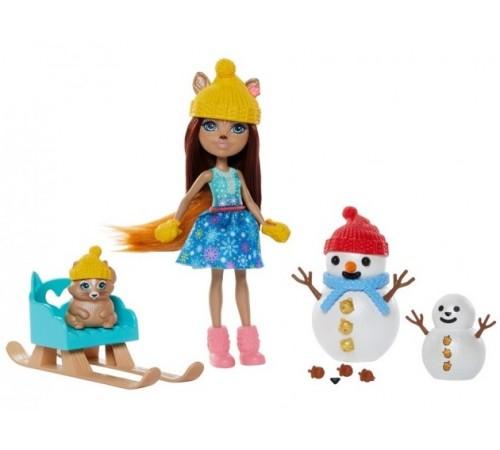 """enchantimals gnp16 Набор с куклой """"Белочки и снеговики"""""""