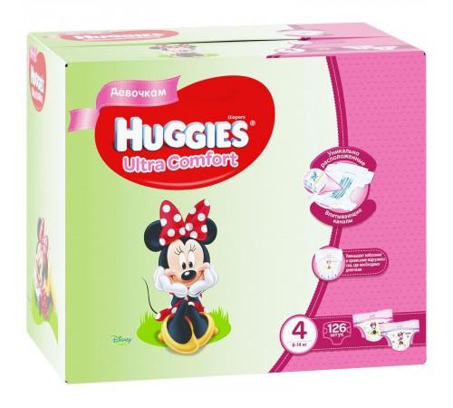 huggies ultra comfort box girl 4 (8-14 kg.) 126 buc.