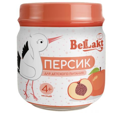 Беллакт Пюре из персиков (4 м+)  80 гр.