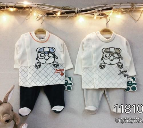 Одежда для малышей в Молдове twetoon baby  Комплект велюровый 2ед. (штанишки и батник) 118100