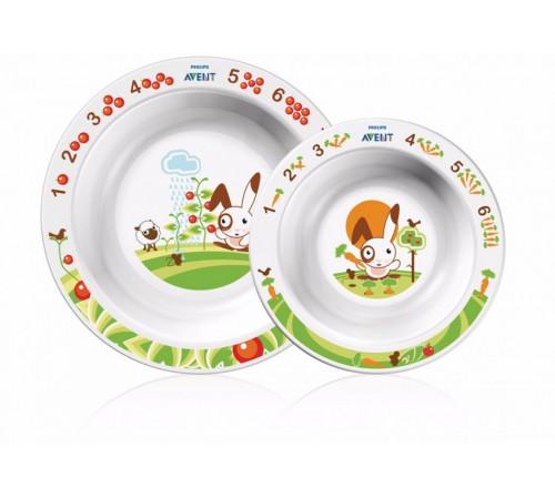 avent scf708/00 Набор тарелок (6m+) 2шт.