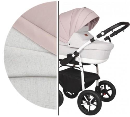 baby merc Коляска 2-в-1 zipy q zq/138c белый/розовый