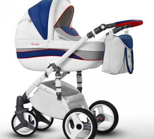 Детские коляски в Молдове wiejar Коляска 2в1 evado 06 eco-кожа, цвет  сине-белая