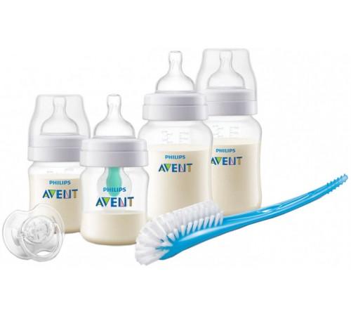 "avent scd807/00 Набор для кормления новорожденных ""anti-colic+ + клапан air free"" (0 м+) 7 шт."