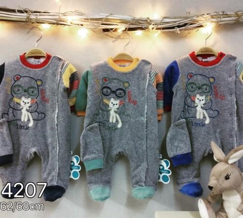 Одежда для малышей в Молдове twetoon baby Комбинезон с шапочкой, велюр 114207