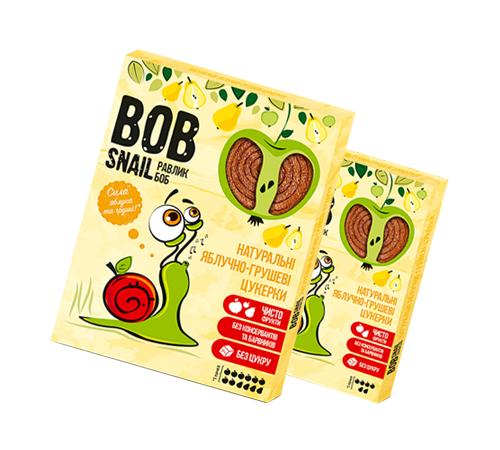 Детское питание в Молдове Натуральные Яблочно-Грушевые Конфеты ТМ bob snail (Улитка БОБ) 60 г