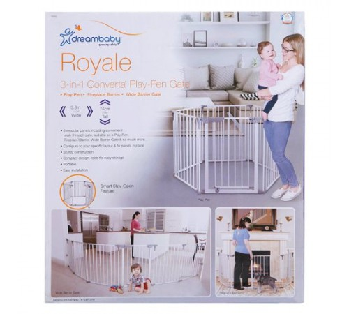 "Securitatea copiilor Baby-Boom in Moldova dreambaby f849 porțile de siguranță-tarc 3-в-1 ""royale converta"" (380 cm.) alb"