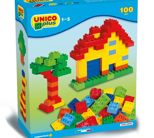 """androni giocattoli 8505-0000 Конструктор """"unico plus"""" (100 дет.)"""