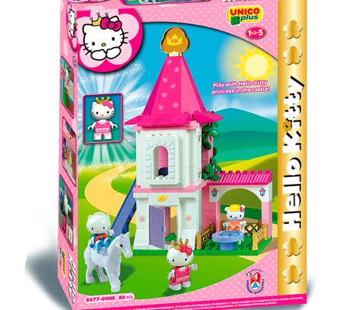 Игрушки в Молдове androni giocattoli 8677-00hk Конструктор Замок hello kitty (80 эл)