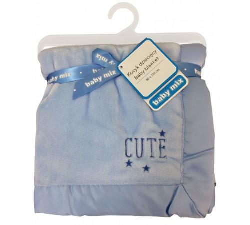 baby mix sh-45551 cc cuvertură  (80x110 cm) albastru