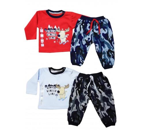 Одежда для малышей в Молдове bebemania 9142 Костюм мальчик (2 ед.) в асс.