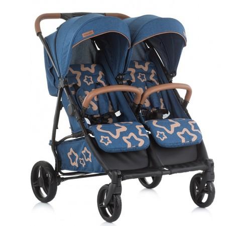 Детские коляски в Молдове chipolino Коляска для двойни passo doble kbpd01903mb синий