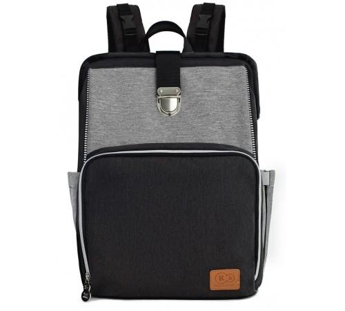 kinderkraft Рюкзак для коляски molly чёрный/серый