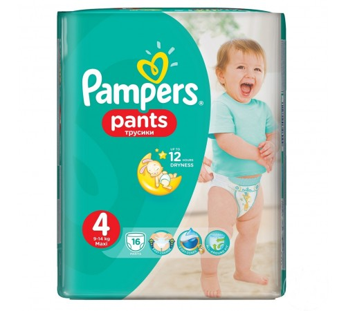 pampers pants 4 (9-14 kg.) 16 buc.