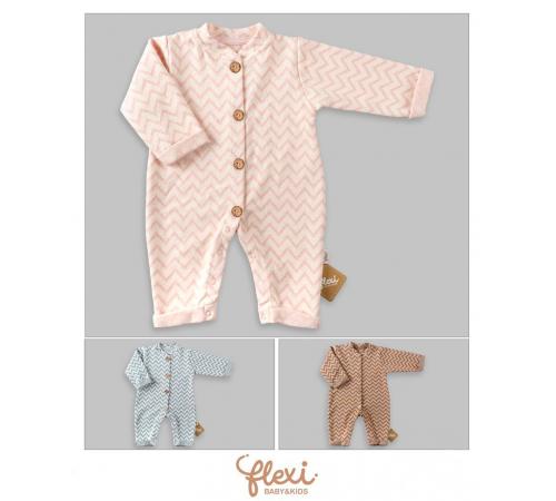 """Одежда для малышей в Молдове flexi 213918 Комбинезон """"zigzag"""" (62-68-74 см.) в асс."""