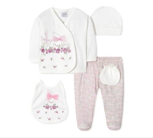Одежда для малышей в Молдове twetoon baby 134102 Набор из 5 единиц для новорожденных