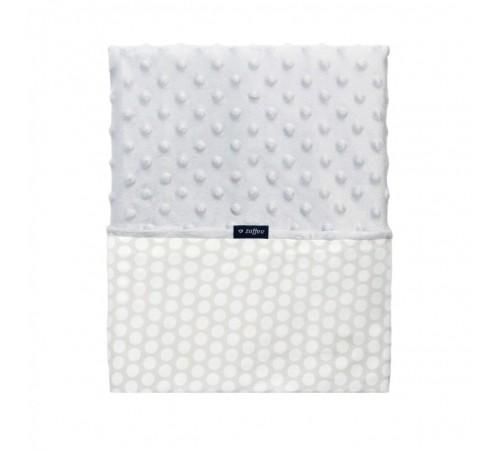 womar pătură minky + bumbac 75x100 gri cu alb