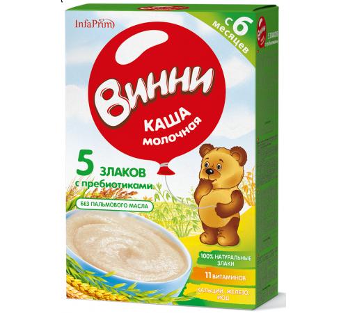 Винни terci cu lapte din 5 cereale cu prebiotice (6 m+) 220 gr.