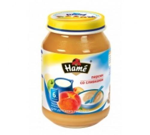 hame Пюре Персик со сливками 190gr. (6m+)