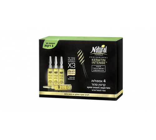 25.34 Ампулы для волос natural formula keratin intense 4 шт 964381