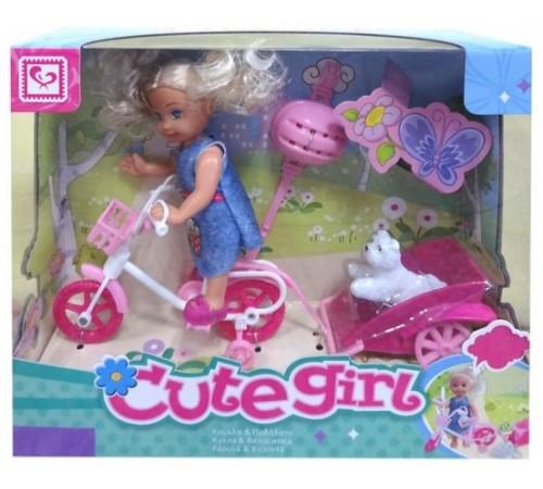 """Детскиймагазин в Кишиневе в Молдове op ДЕ01.301 Набор cute girl """"Кукла с велосипедом"""""""