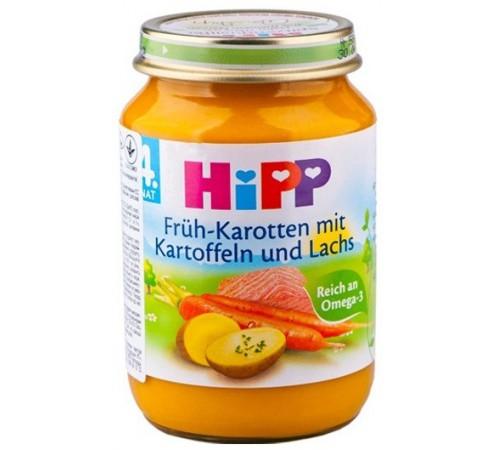Детское питание в Молдове hipp 6105 Лосось в морковно-картофельном пюре (4м+)190 гр.