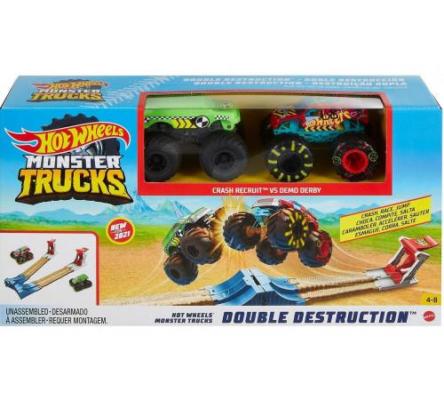"""Детскиймагазин в Кишиневе в Молдове hot wheels gyc80 Трек """"Двойной старт"""" серии """"monster trucks"""""""