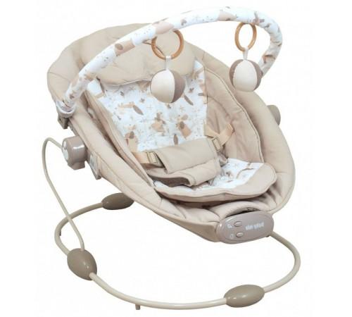 baby mix lcp-br245 Șezlong cu muzică și vibrații bej