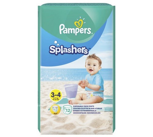 pampers splashers 3-4 (6-11 кг.) 12 шт.